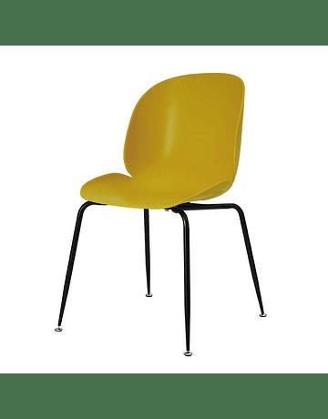 Silla GamFratesi Beetle GUBI Boob color Amarillo* patas negras