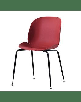 Silla GamFratesi Beetle GUBI Boob color Rojo patas negras