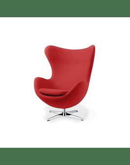 Silla sillon Huevo (Egg chair) Arne Jacobsen Rojo*