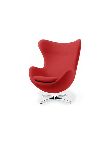 Silla sillon Huevo (Egg chair) Arne Jacobsen Rojo*