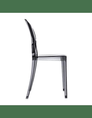 Silla Victoria Ghost Fumé Policarbonato semi transparente de Philippe Starck