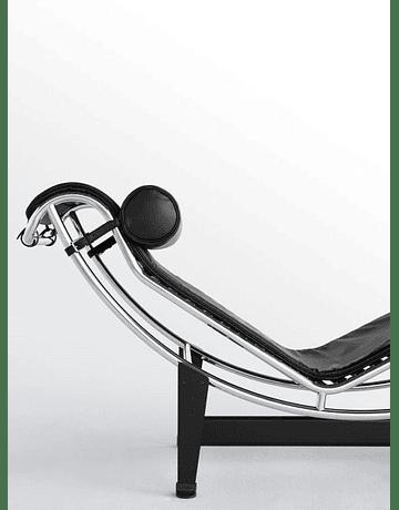 Sillón Chaise Longue LC4 de Le Corbusier en ecocuero Negro