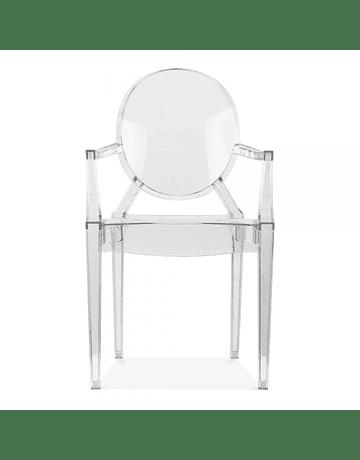 Silla Victoria Ghost Transparente con Apoyabrazos Policarbonato de Philippe Starck