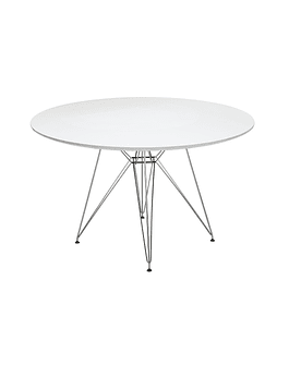 Mesa tipo Eames DSR redonda en color blanco 120 cms - Patas metálicas