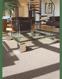 Mesa cuadrada de Vidrio templado y acero inoxidable 100cms