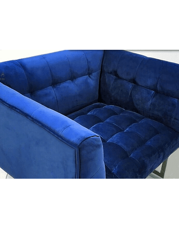 Carlo Colombo - Chair Terciopelo Azul