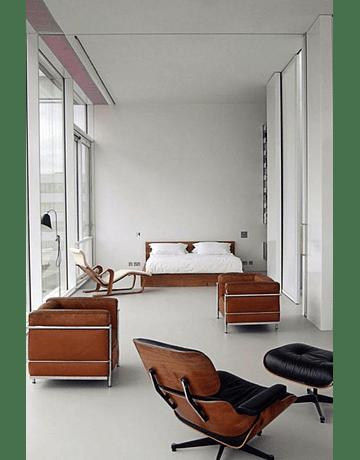 Sofá poltrona modelo LC2 Le Corbusier ecocuero Blanco