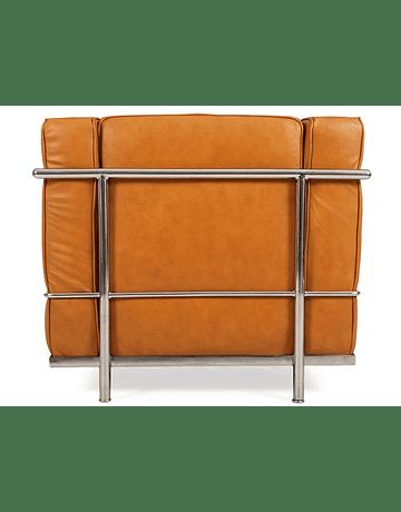 Sofá poltrona modelo LC2 Le Corbusier ecocuero Tan