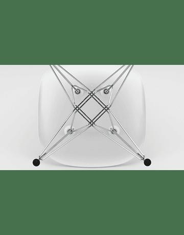 Silla Eames DSR con patas metal EIFFEL