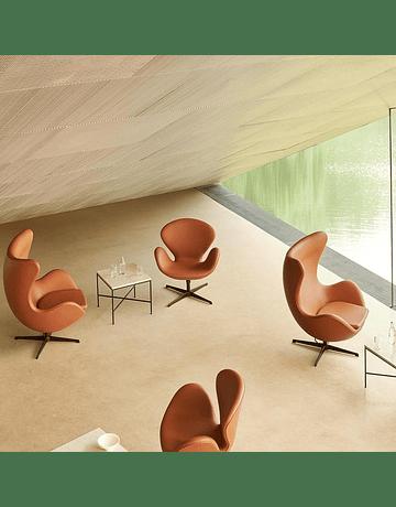 Silla poltrona Swan by Arne Jacobson Ecocuero Tan*