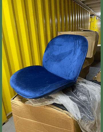 Silla Beetle GUBI Boob Azul Marino* patas doradas by GamFratesi