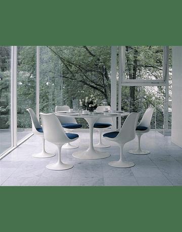 Mesa Tulip Eero Saarinen Mármol Carrara* 100cm con borde Bicelado