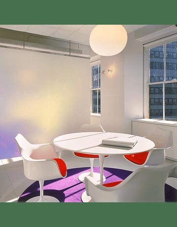 Mesa modelo Tulip de Eero Saarinen en color Blanco 100cm lacada