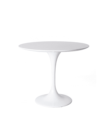 Mesa modelo Tulip de Eero Saarinen en color Blanco 80cm lacada