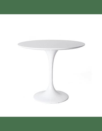 Mesa Tulip Eero Saarinen en color Blanco* 80cm Lacada y borde Bicelado