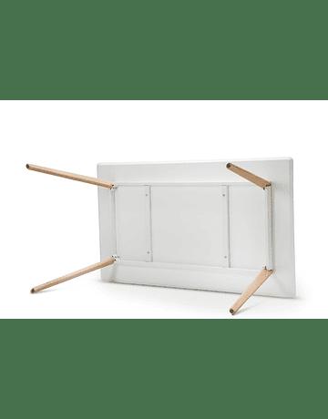 Mesa tipo Eames DSW rectangular en color blanco 120x80 cms pata tubular