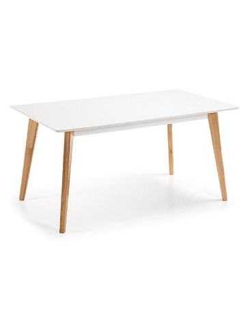 Mesa tipo Eames DSW rectangular en color blanco 190x100 cms