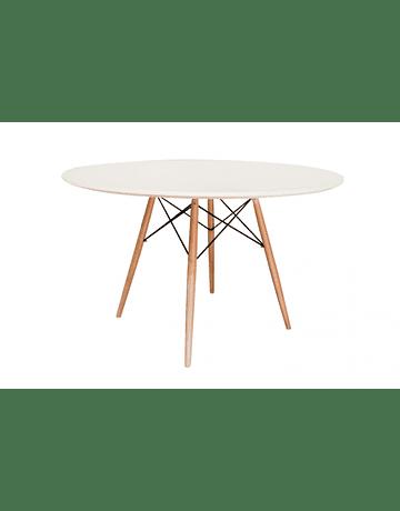 Mesa tipo Eames DSW redonda en color blanco 100 cms