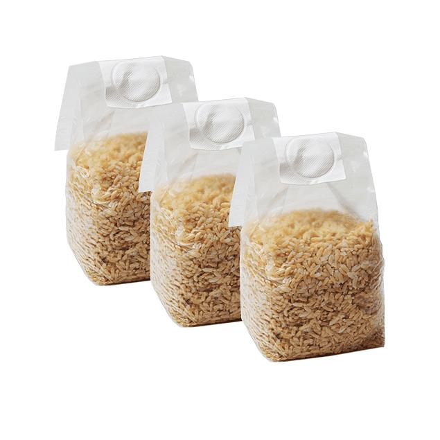 Pack 3 Mushbag 1200cc grano integral estéril