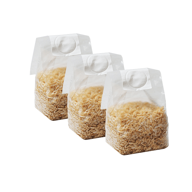 Pack 3 Mushbag 750cc grano integral estéril