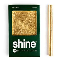 Shine® 6 papeles kingsize de oro 24K