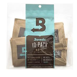 Pack 10 Boveda 62% 4gr, controlador de humedad
