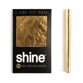 Shine® 1 papel kingsize de oro 24K