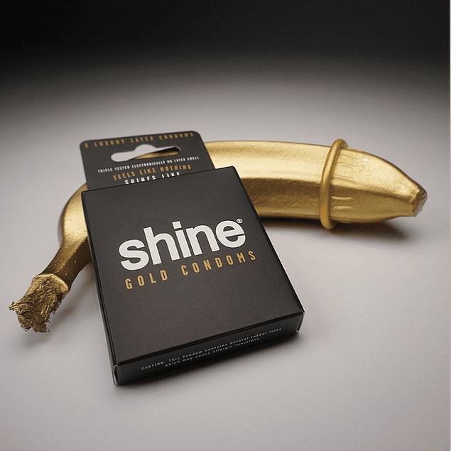 Shine® 3 Condones gold