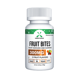Fruit bites 300mg Green roads