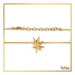 Leaf pendant Gold