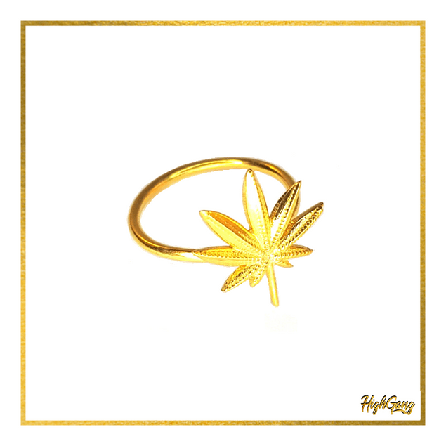 Leaf ring Gold