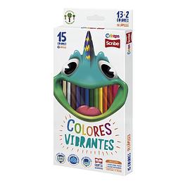 Colores Unipunta Scribe x 13 + 2 Unidades