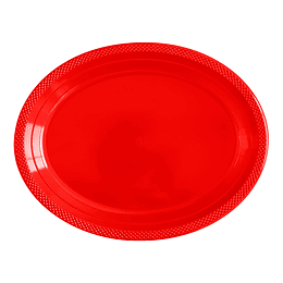 Bandeja Ovalada Deluxe Rojo X 5 Unidades