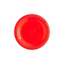 "Plato Deluxe 6"" Rojo X 10 Unidades"