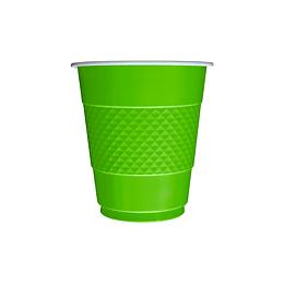 Vaso 7 Oz Deluxe Verde Lima X 10 Unidades