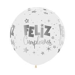 Globo R-24-Inf-Feliz Cumpleaños -Fantasia-Metalink