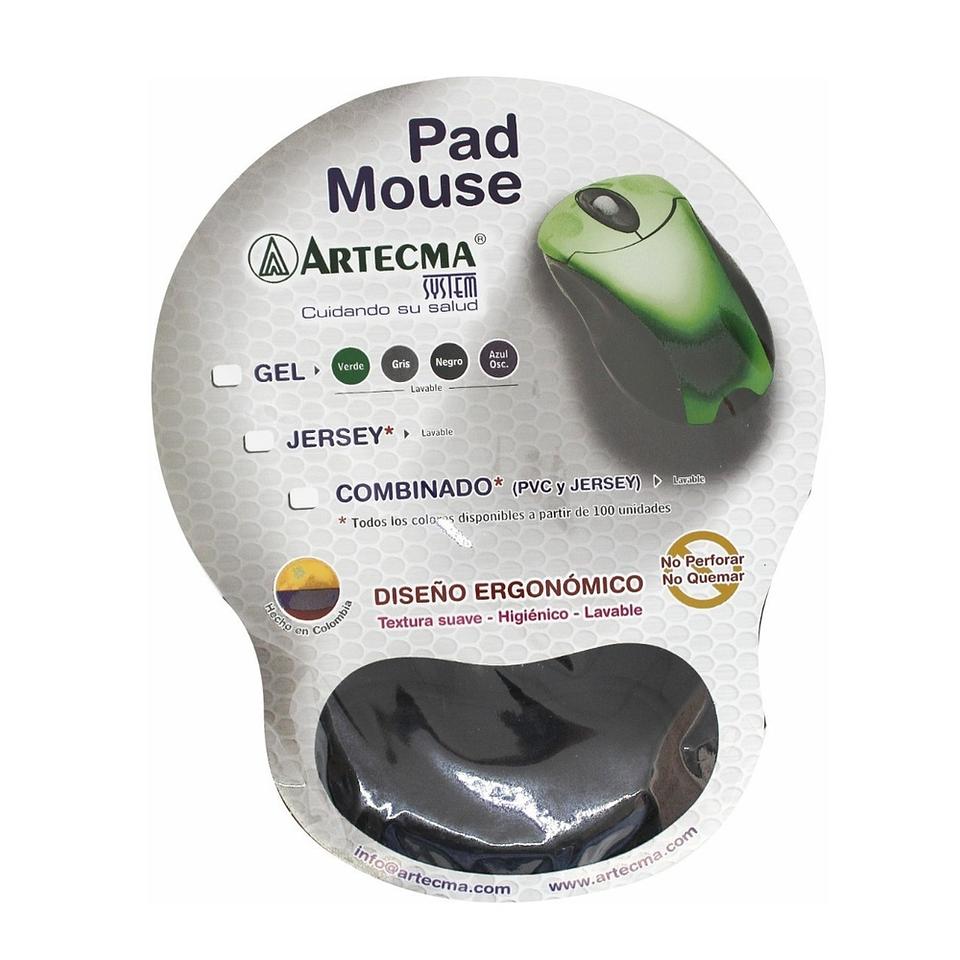 Pad Mouse Con Gel Azul Artecma