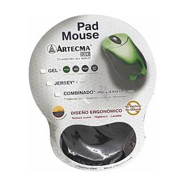 Pad Mouse Con Gel Negro Artecma