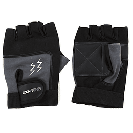 Guantes Gym Zoom Fitness Black Grey Talla M