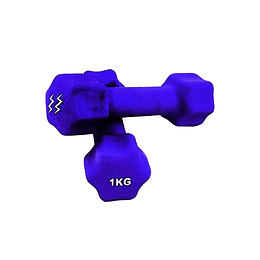 Mancuerna Neopreno 1 Kg Zoom Fitness X 1 Unidad