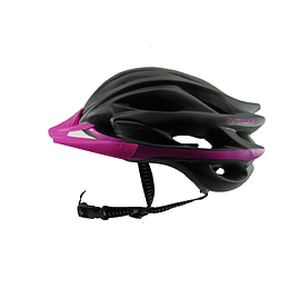 Casco Cliff Race Negro/Fucsia