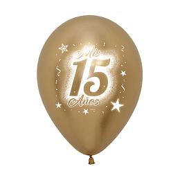 Globo R12-Mis-15-Años-Reflex-Dorado x 12