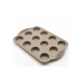Molde Silicona P/Mini Ponqué Press 30 X 19.5 X 2 Cm Beige