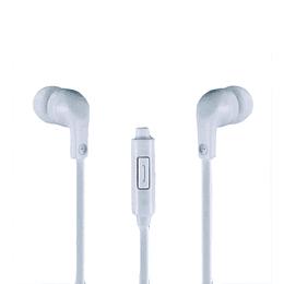Audífonos Con Micrófono Topo Silicona Blancos