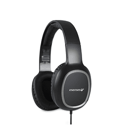 Audífonos Esenses Negros Con Micrófono - Soporte Diadema