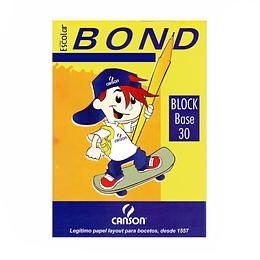 Block Papel Bond 1/8 115Gr