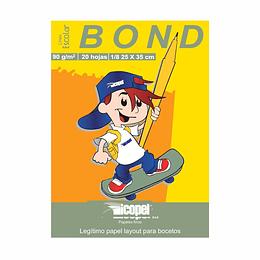 Block Papel Bond 1/8 90Gr