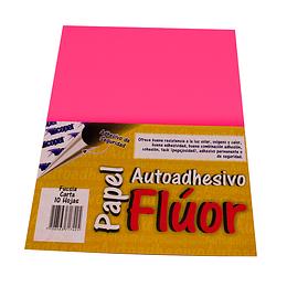 Papel Adhesivo Fluorescente Fucsia