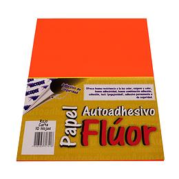 Papel Adhesivo Fluorescente Rojo