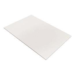 Medio Pliego Cartón Paja Blanco